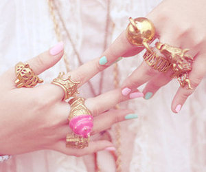bling, baby pink, and mint green image