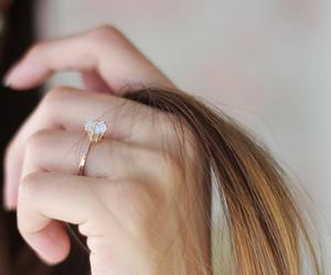 fashion, hair, and ring image