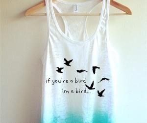 bird, blue, and shirt image