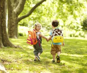adorable, backpack, and carefree image