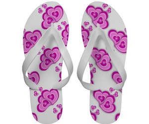 flip flops, sandals, and white image