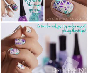 nail art, purple, and triangles image