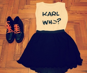 black skirt, fluor, and cute image
