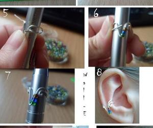 beads, diy, and earings image
