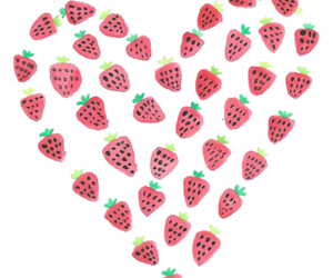 strawberry, heart, and transparent image