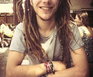 boy, smile, and dreads image