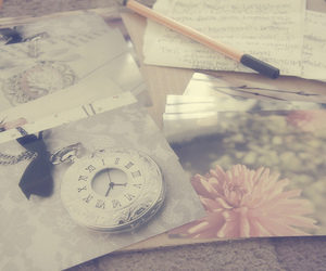 cute, vintage, and clock image