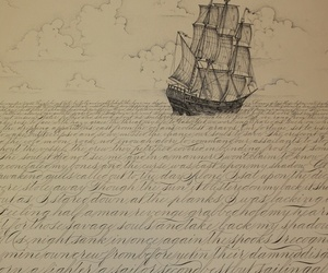 sea, art, and ship image