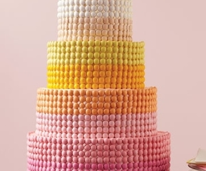 cake, colorful, and dots image