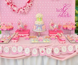 cake, cupcakes, and decorations image