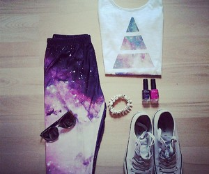 galaxy, clothes, and outfit image