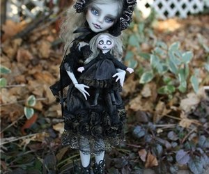 doll, gothic, and monster high image
