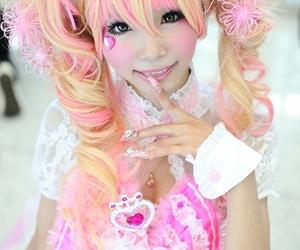 girl, kawaii, and pink image