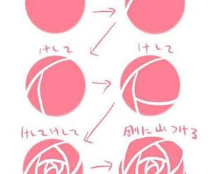 rose and drawing image