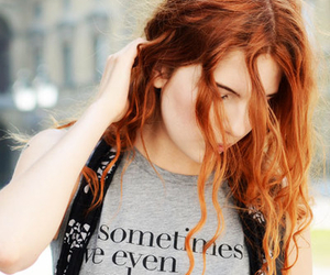 redhead, street style, and techno image