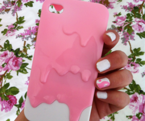 pink, iphone case, and girl image