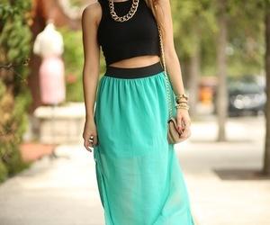 fashion, style, and maxi skirt image
