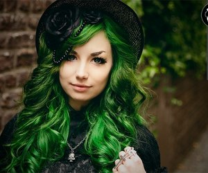 asian fashion, lolita, and colored hair image