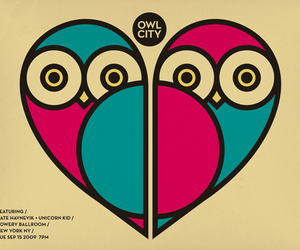 owl, heart, and Owl City image