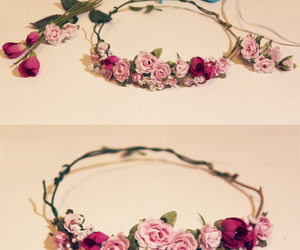 flowers, diy, and flower crown image