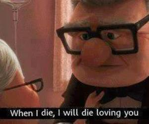love, up, and die image
