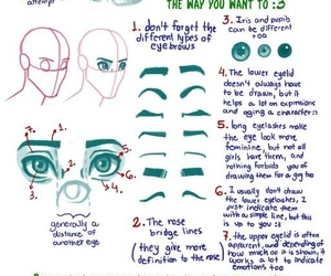 tutorial, drawing, and eyes image