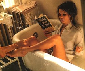 kate moss, book, and bath image