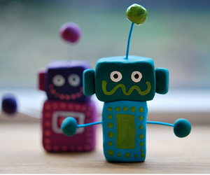 art, robot, and clay image