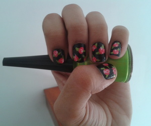 flowers, nailart, and nail art image