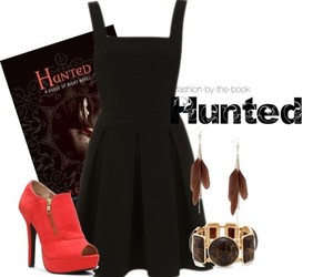 book, house of night, and hunted image