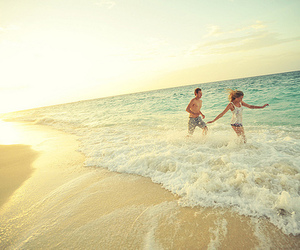 beach, couples, and photography image