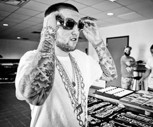 black and white, mac miller, and most dope image