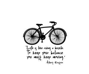 life, quote, and bicycle image