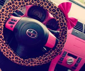 pink, car, and girly image