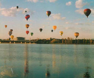 balloons, vintage, and sky image