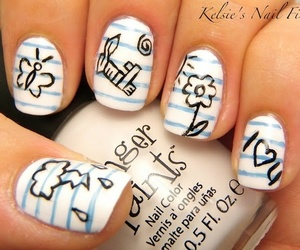 nails, smile, and art image