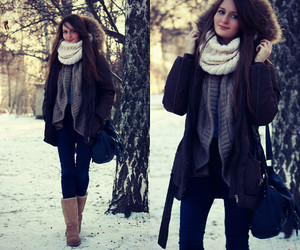 coat, winter, and cold image