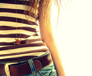 girl, necklace, and belt image