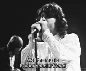 Jim Morrison, music, and black and white image