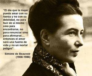 quote, simone de beauvoir, and beauvoir image