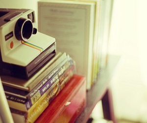 book and polaroid image