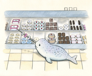 donuts and narwhal image