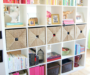 albums, black, and bookcase image