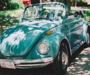 car, blue, and vintage image