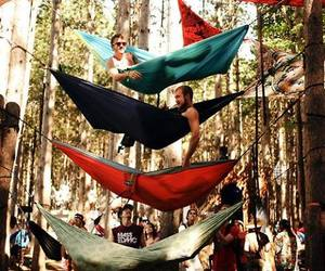 camping, hippie, and friends image