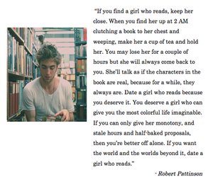 book, robert pattinson, and quotes image