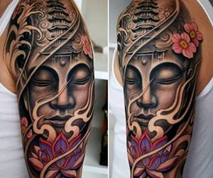 tattoo and Buddha image