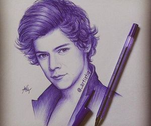 one direction, Harry Styles, and drawing image