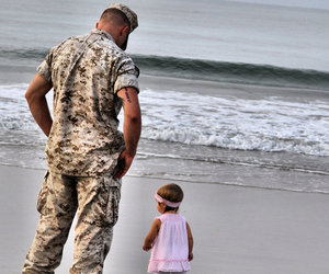 daddy, USMC, and Father and Daughter image