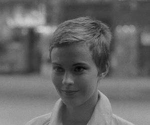 black and white, jean seberg, and girl image